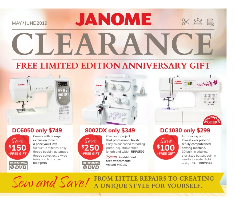 Clearance Sale Mailer May 2019 1